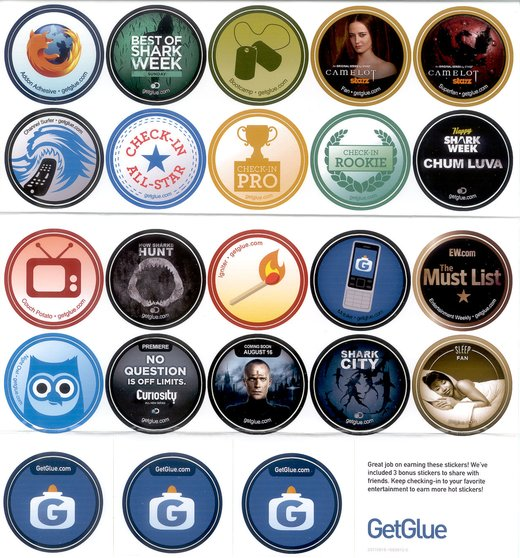GetGlue Stickers Batch #1