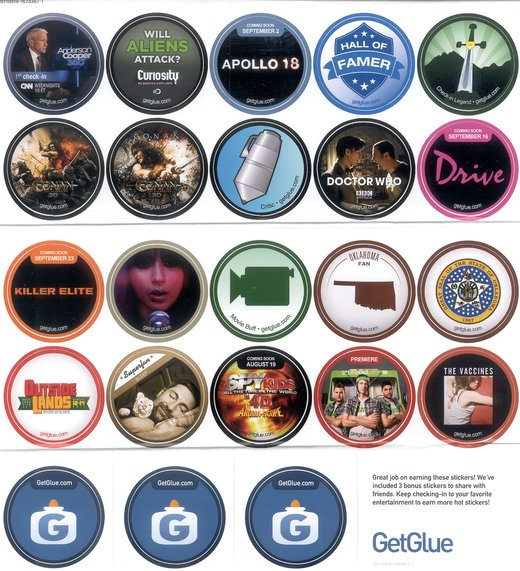 GetGlue Stickers Batch #2