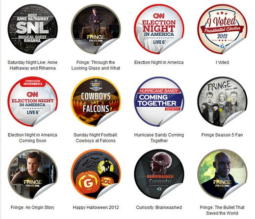 GetGlue Stickers Batch #34
