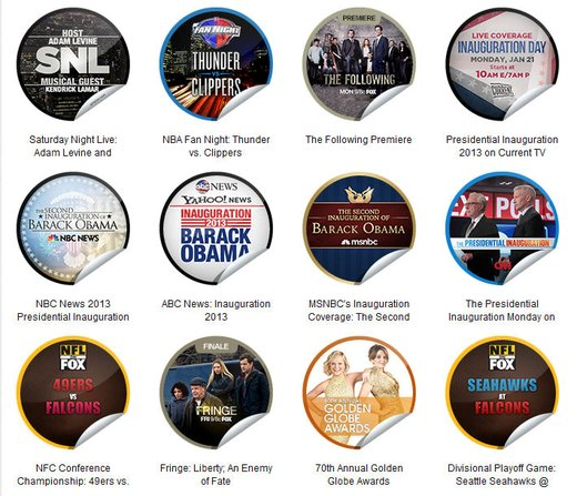 GetGlue Stickers Batch #38