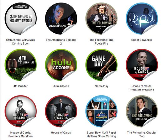GetGlue Stickers Batch #39