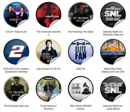 GetGlue Stickers Batch #40