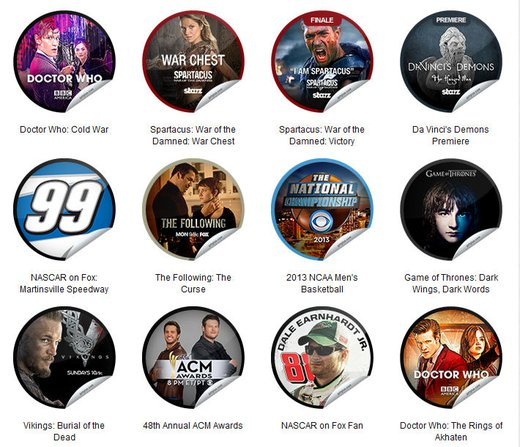 GetGlue Stickers Batch #43