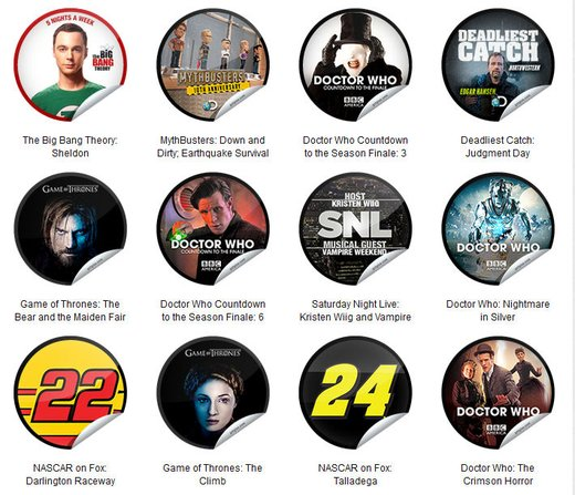 GetGlue Stickers Batch #46