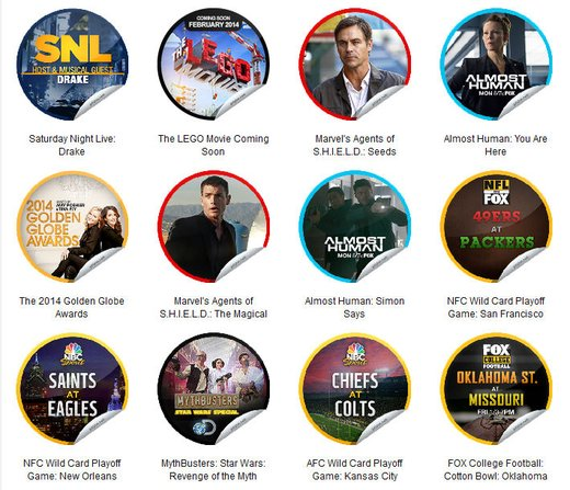 GetGlue Stickers Batch #62