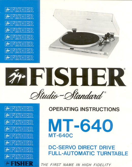 Fisher MT-640 Turntable