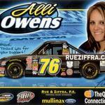 Alli Owens Signed NASCAR Flyer - Front