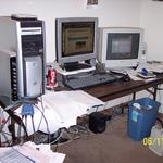 Messy Computer Desk