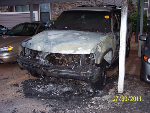 Some Burned Out SUV - 01