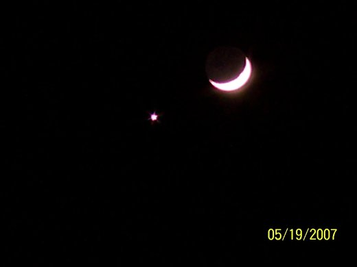 The Moon and Venus, Zoomed In