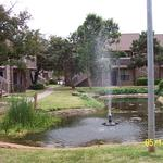 OKC Apartment Pond in the Spring