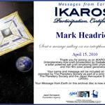 The Planetary Society: Ikaros Participation