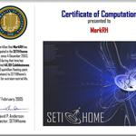 SETI Certificate of Computation: Futuristic